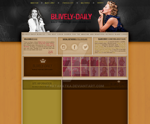 Layout with Blake Lively by aktakatka
