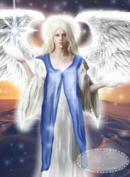 Angel of the Light of Winter by Tricia-Danby