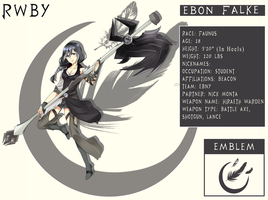 RWBY OC: Ebon Falke (Bio Added!) by azulann
