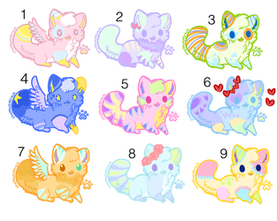 Cheap Kitten Adopts (CLOSED) 15 points each! by azaleakiwi