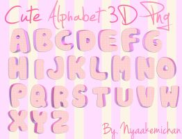 Cute Alphabet 3D PNG - Abecedario PNG by NyaAkemiChan