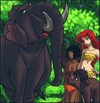 Colonel Hathi And Jr Hathi Appear By Jessica Rae 3 by SYFYNUT