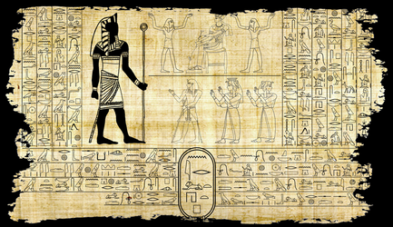 Nyarlathotep in hieroglyphics by unsungno1
