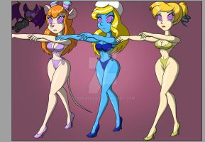 commission Gadget Hackwrench, Smurf by CarlosFco