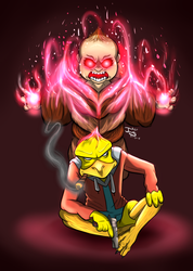Ducky and Demon Baby by DinomanInc
