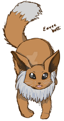 Eevee Cat Print WIP by fether