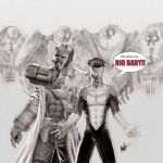 Hellboy and Invincible Team up by clarkspark