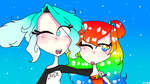 Human Anime Arianna and Rainbow by TheJewelKitty