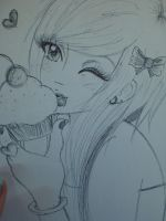 Scene girl with cupcake by ziggehhh
