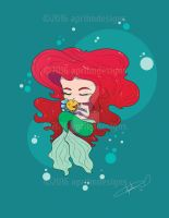 Ariel with Flounder by aprilmdesigns