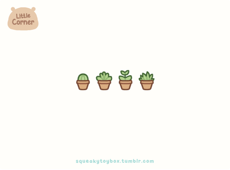 Little Succulents by SqueakyToybox
