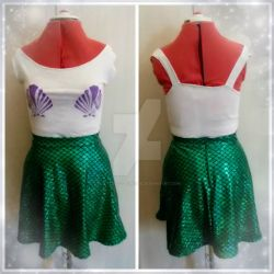 Ariel-inspired outfit by MalteseLizzieMcGee