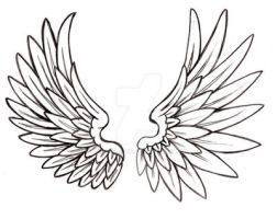 Angel Wing Tattoo by Metacharis