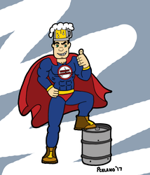 Captain Beer Keg Thumbs Up by chelano