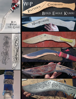AC: Syndicate,  Bold Eagle Kukri WIP by Pearlite