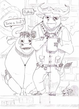 Bull of the Ferdinand x Zootopia by ThankU830309