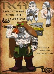 Beaux Bjornsson the Dwarven Barbarian by SethEyles
