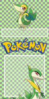 .:Journal Skin:. Snivy and Servine (FREE) by Korollily