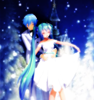 Snowy Couple MikuxKaito by leonlivelks