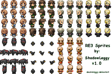 RE3 + Monster Sprites v1.0 by DoubleLeggy