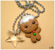 Fimo Gingerbread Man by LolleBijoux