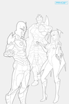 Heralds of the Faltine -Lineart- by Pryce14