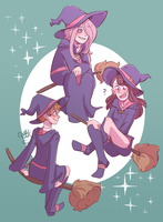 Little Witch Academia (SPEEDPAINT) by NyanWulf02