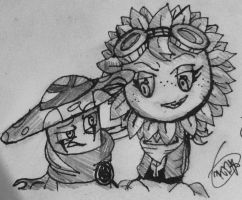 PvZ Heroes-(Evil)Nightcap and Solar Flare by Velatina-young