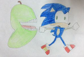 Sonic races with Biting Pear of Salamanca by SuperSmash6453