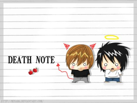 Wall Chibi Death Note by ChabeEscalant
