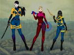 Vault Suit Chrystalight, Allison, and Vanda by TwistedWizzro343