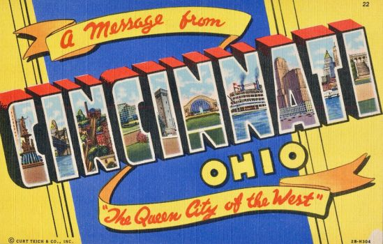 Large Letter Postcard - Cincinnati OH by Yesterdays-Paper