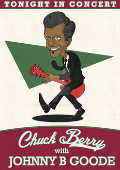 Chuck Berry poster by winnetouch