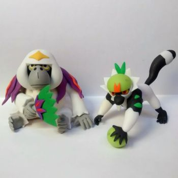 Oranguru passimian Clay Pokemon Sun Pokemon Moon by tatanRG