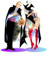 Halloween Balthier and Fran by taka0801