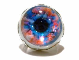 Pink and blue eye ring by glo0bule