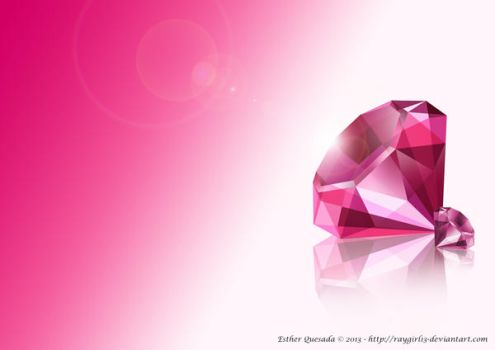 Diamond Wallpaper in Pink by Raygirl13