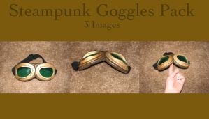 Steampunk Goggle Pack by HiddenYume-stock