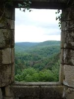 Ruined castle 2 by Cat-in-the-Stock