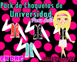 Pack de chaquetas para dolls by JuLiiEditions123