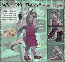 NPC: Ms. Thorne by Hawksfeathers97