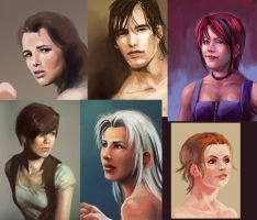 Portrait sketches by Risachantag