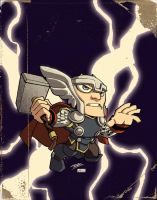 Thor OldSchool by KidNotorious by VPizarro626