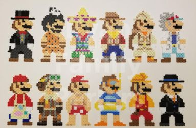 Super Mario Odyssey 8-bit Mario Perlers (Batch 1) by jrfromdallas
