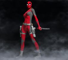 Lady Deadpool 2nd skin textures 4 V4 by hiram67