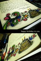 happy birthday to you. by reavel