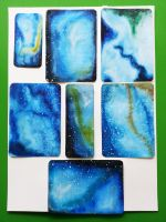 Galaxy Postcards and Bookmarks by IsabelleMaria