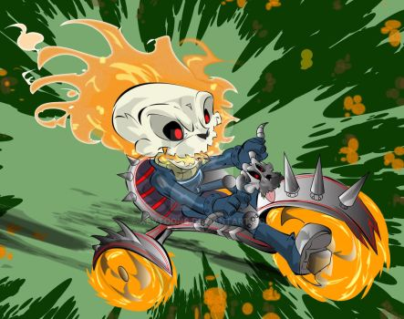 Ghost-rider-g by kevtoons