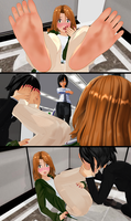 Stuck in an Elevator with Rumiko Pt.2 (Bare Ver.) by tehfogo