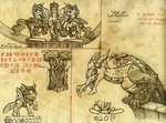 1) Changeling Kingdom Statues (concept art) by H-StallionWolf